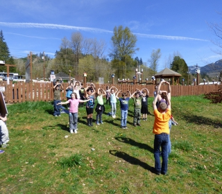 Students learn the steps of the seed cycle and demonstrate through dance!