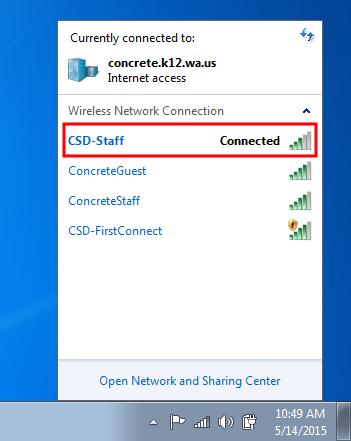 WiFi Instructions | Concrete School District