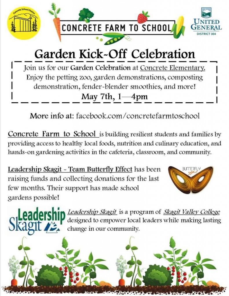 Farm to School Garden Kick-off Celebration Flyer