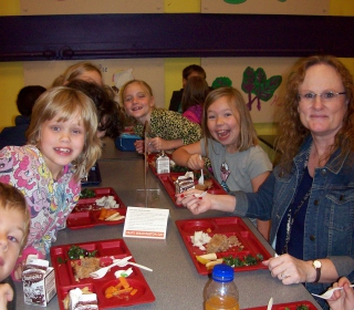 Mrs. Riehl and her class ate together on Taste Washington Day, October 7th, 2015