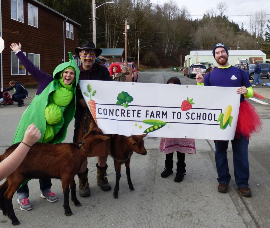 Farm To School at Concrete's Mardi Gras parade.