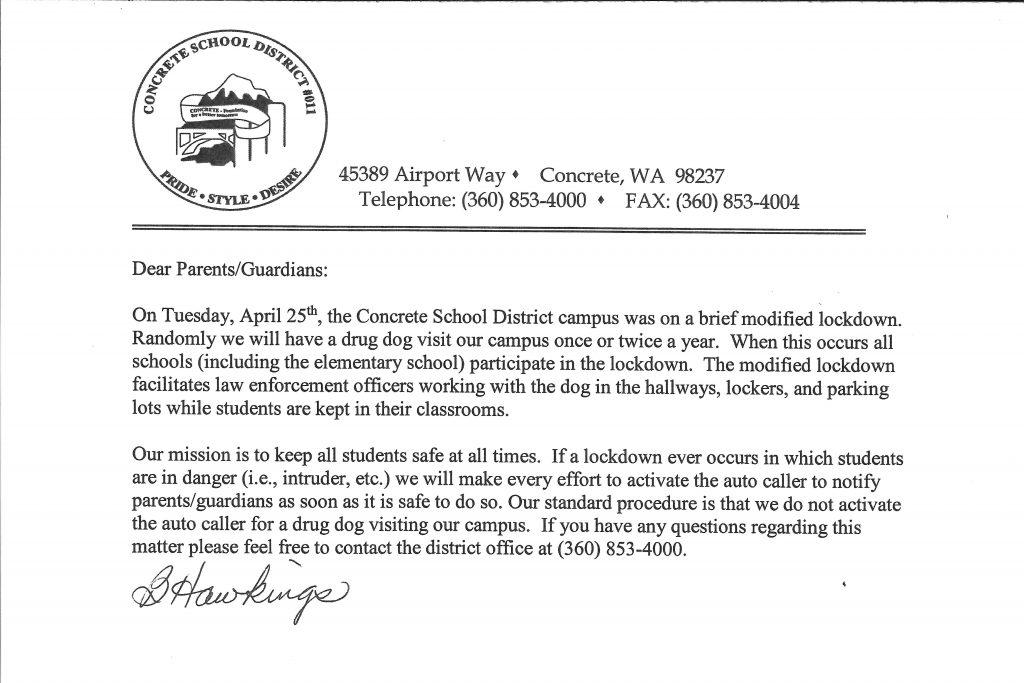 Recent lockdown explanation letter.