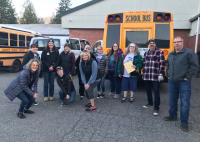 Group photo of some of the people helping with meal deliveries.